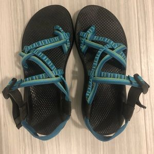Blue & Green chaco sandals